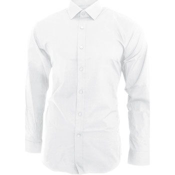 textil Hombre Camisas manga larga Brook Taverner BK130 Blanco