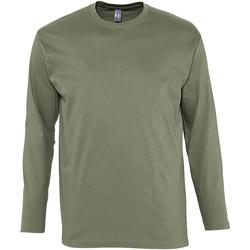 textil Hombre Camisetas manga larga Sols Monarch Caqui