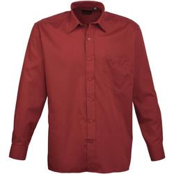 textil Hombre Camisas manga larga Premier PR200 Burdeos