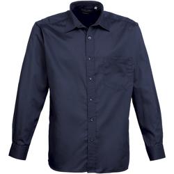 textil Hombre Camisas manga larga Premier PR200 Marino