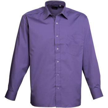textil Hombre Camisas manga larga Premier PR200 Púrpura
