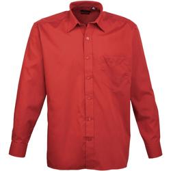 textil Hombre Camisas manga larga Premier PR200 Rojo
