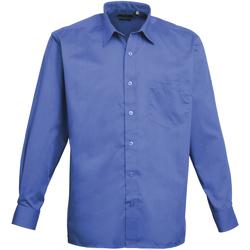 textil Hombre Camisas manga larga Premier PR200 Azul