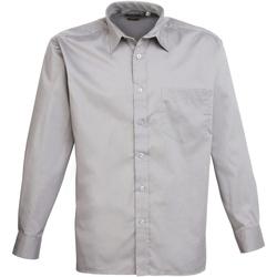 textil Hombre Camisas manga larga Premier PR200 Plata