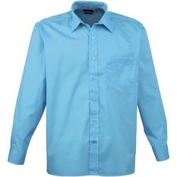 textil Hombre Camisas manga larga Premier PR200 Turquesa
