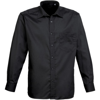 textil Hombre Camisas manga larga Premier PR200 Negro