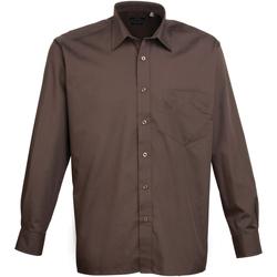 textil Hombre Camisas manga larga Premier PR200 Marrón