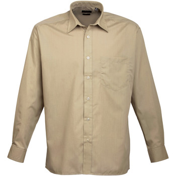 textil Hombre Camisas manga larga Premier PR200 Caqui