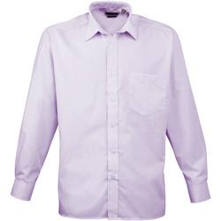textil Hombre Camisas manga larga Premier PR200 Lila