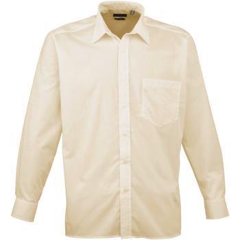 textil Hombre Camisas manga larga Premier PR200 Natural