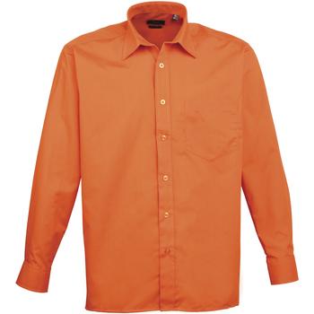 textil Hombre Camisas manga larga Premier PR200 Naranja