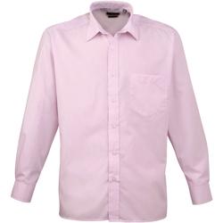 textil Hombre Camisas manga larga Premier PR200 Rosa