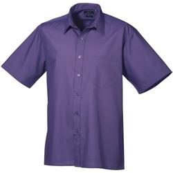 textil Hombre Camisas manga corta Premier PR202 Púrpura