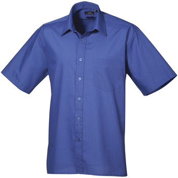 textil Hombre Camisas manga corta Premier PR202 Azul