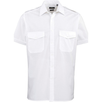 textil Hombre Camisas manga corta Premier PR212 Blanco