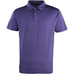 textil Polos manga corta Premier PR612 Púrpura