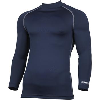 textil Hombre Camisetas manga larga Rhino RH001 Azul marino
