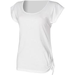 textil Mujer Camisetas manga corta Skinni Fit Slounge Blanco
