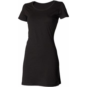 textil Mujer Vestidos cortos Skinni Fit Scoop Neck Negro