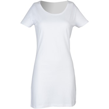 textil Mujer Vestidos cortos Skinni Fit Scoop Neck Blanco