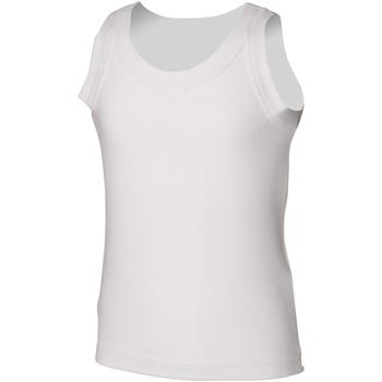 textil Niños Camisetas sin mangas Skinni Fit SM016 Blanco