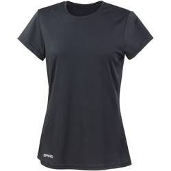textil Mujer Camisetas manga corta Spiro S253F Negro