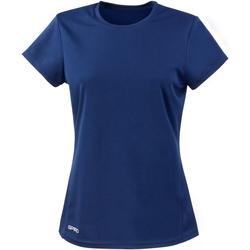 textil Mujer Camisetas manga corta Spiro S253F Azul marino