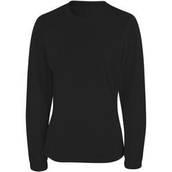 textil Mujer Camisetas manga larga Spiro S254F Negro