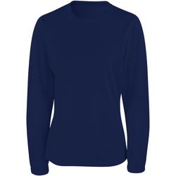 textil Mujer Camisetas manga larga Spiro S254F Azul marino