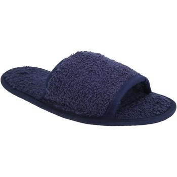 Zapatos Pantuflas Towel City TC064 Azul marino