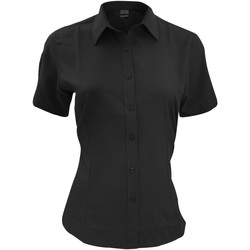 textil Hombre Camisas manga corta Henbury HB596 Negro