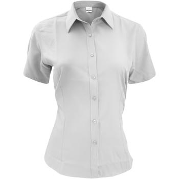 textil Hombre Camisas manga corta Henbury HB596 Blanco