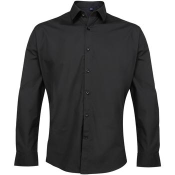 textil Hombre Camisas manga larga Premier PR207 Negro