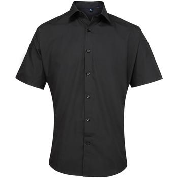 textil Hombre Camisas manga corta Premier PR209 Negro