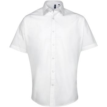 textil Hombre Camisas manga corta Premier PR209 Blanco