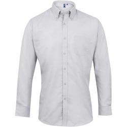 textil Hombre Camisas manga larga Premier PR234 Plata