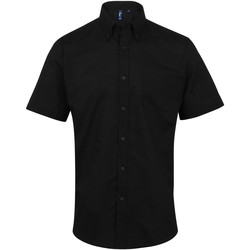 textil Hombre Camisas manga corta Premier PR236 Negro
