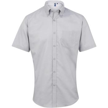 textil Hombre Camisas manga corta Premier PR236 Plata