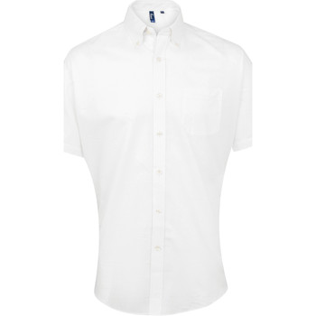 textil Hombre Camisas manga corta Premier PR236 Blanco