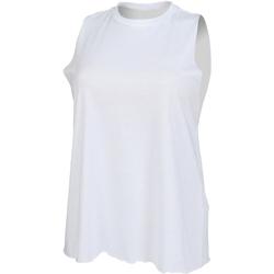 textil Mujer Camisetas sin mangas Skinni Fit High Neck Blanco