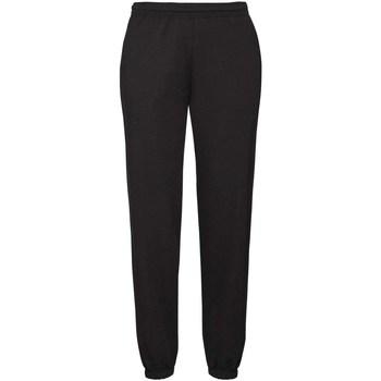 textil Hombre Pantalones de chándal Fruit Of The Loom 64040 Negro