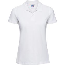 textil Mujer Polos manga corta Russell 569F Blanco