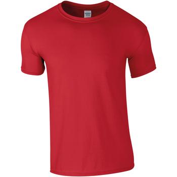 textil Hombre Camisetas manga corta Gildan Soft-Style Rojo