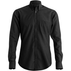 textil Hombre Camisas manga larga Kustom Kit KK184 Negro