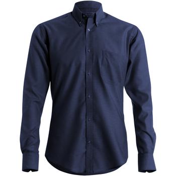 textil Hombre Camisas manga larga Kustom Kit KK184 Azul marino