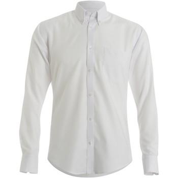 textil Hombre Camisas manga larga Kustom Kit KK184 Blanco