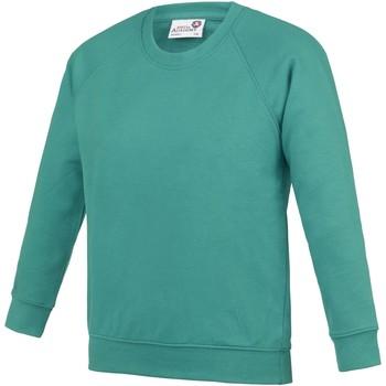 textil Niños Sudaderas Awdis AC01J Verde esmeralda