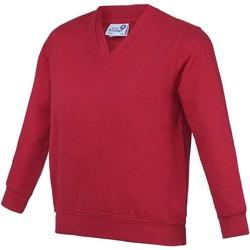 textil Niños Sudaderas Awdis AC03J Rojo