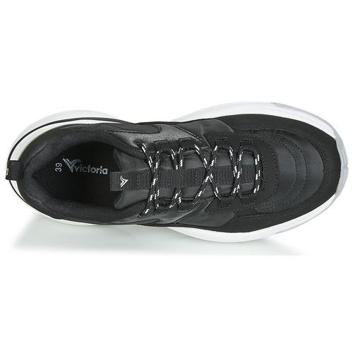 Mujer Aire serraje Pu Bajas Zapatillas Negro Zapatos Nylon Victoria ikTOXZwPu