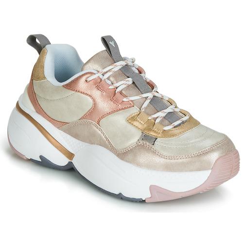 Zapatos Mujer Zapatillas bajas Victoria AIRE METALICO NACAR Beige